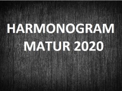 Harmonogram matur 2020